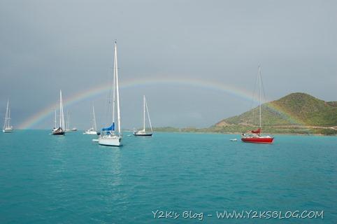 Dopo la pioggia, l'arcobaleno - Jolly Harbour - Antigua