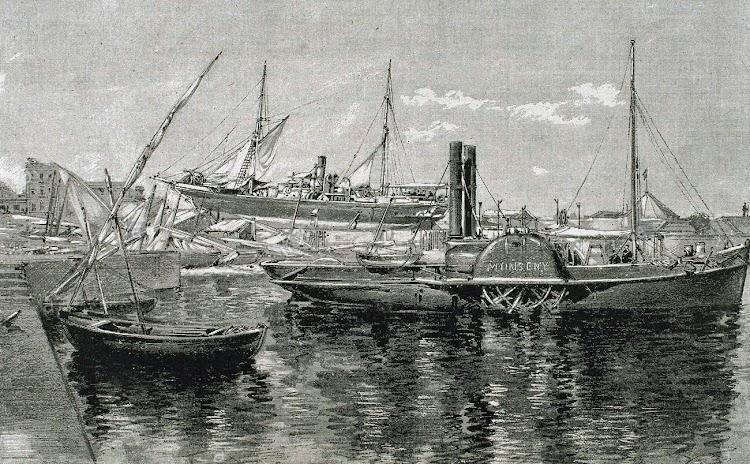 Remolcador a paletas MONSENY. Grabado de Nicanor Vazquez. 1887.tif