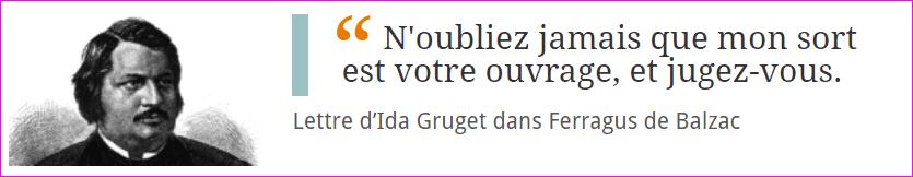 Lettre d'Ida Gruget