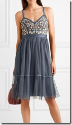 Needle and Thread Embroidered Tulle dress