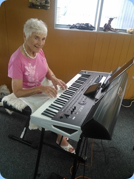 Audrey Henden playing the Korg Pa4X.