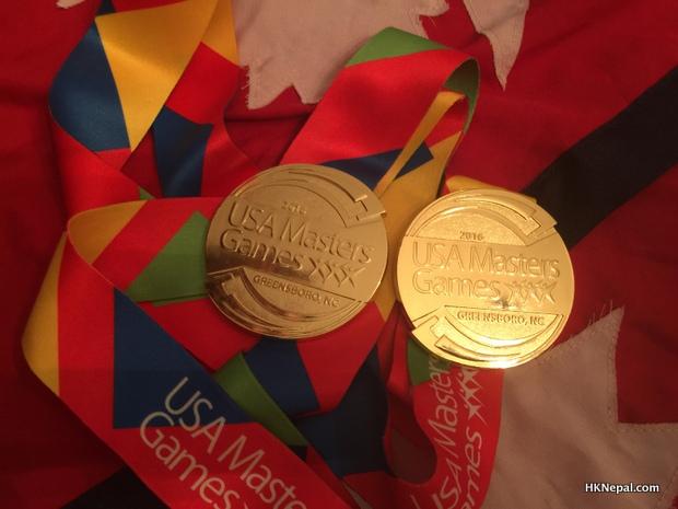 नेपाली खेलाडीलाई अमेरिकामा २ राष्ट्रिय स्वर्ण पदक