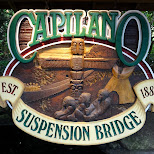 sign at the Capilano Suspension Bridge in North Vancouver, British Columbia, Canada