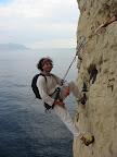 Jean Pierre Andréani, Accompagnateur en Moyenne Montagne, viens faire un peu d'escalade.