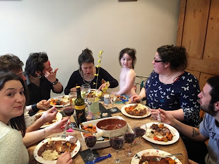 Easter family meal