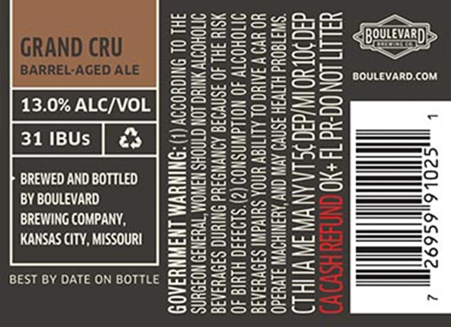 Boulevard Adding Grand Cru Barrel-Aged Ale To Limited Release Series For 2018