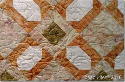 Island Batik qube muted baby quilt