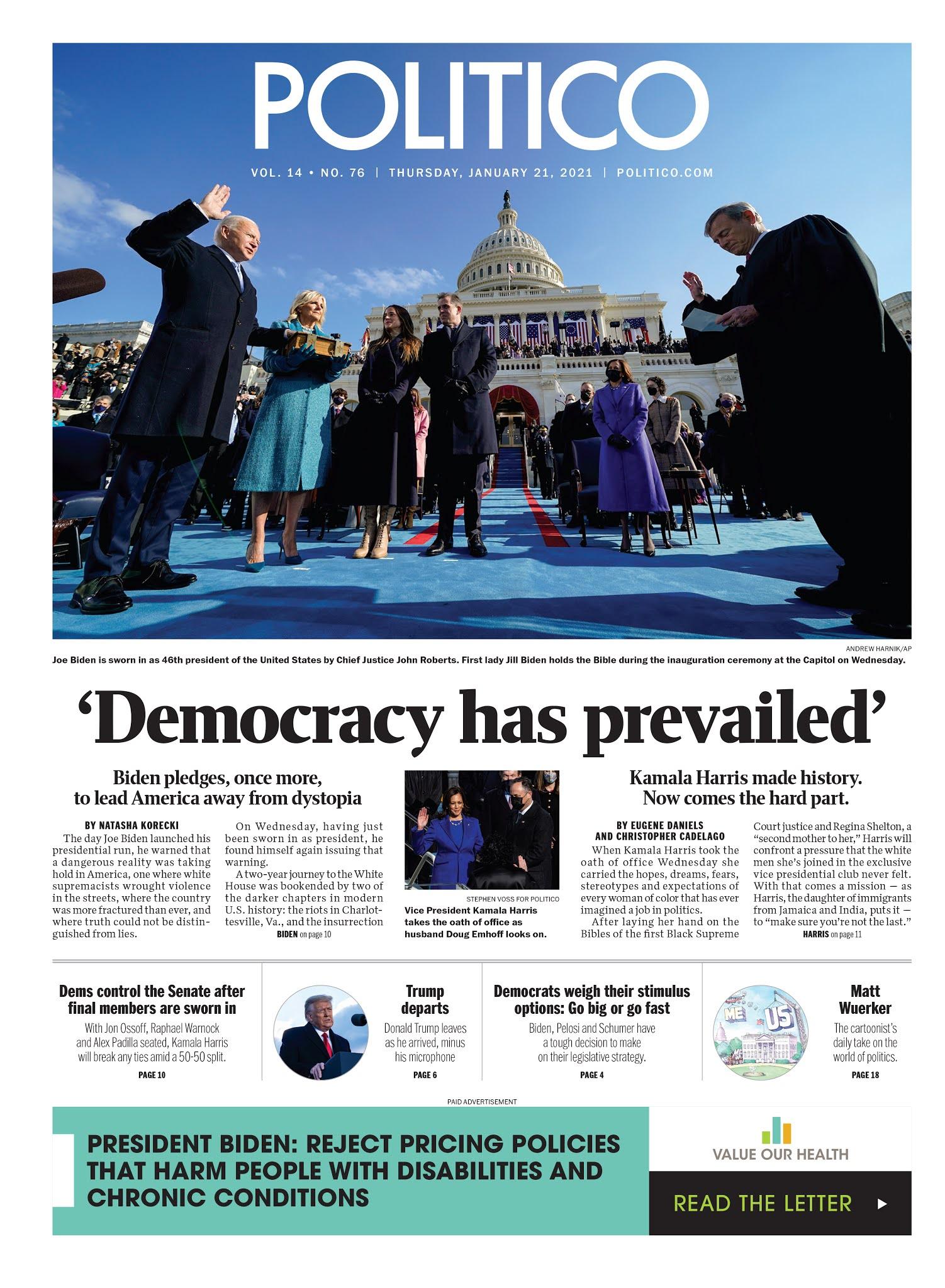 'Democracy has prevailed'