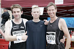 Carsten Glaser, TSV Burgebrach: Platz 3 (1:16:21); Daren Deed, Bedford: Platz 1 (1:10:33); Christian Sticker, IfA Nonstop Bamberg: Platz 2 (1:15:46)