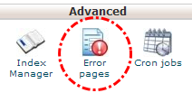Tombol error pages