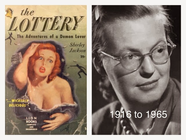 "the suspense of the lottery by shirley jackson ""the lottery"", a short story, by shirley jackson is a very suspenseful yet shocking read, which focus on how tragic it can be to blindly follow a tradition."