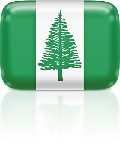 Norfolk Island flag clipart rectangular