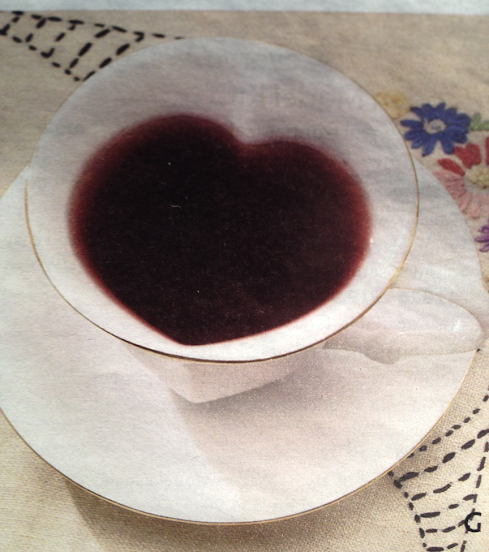 Heart-shaped teacup and saucer (submitted by Sylvia W.)