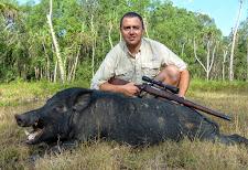 Mr Slaviero with a nice wild boar taken in March