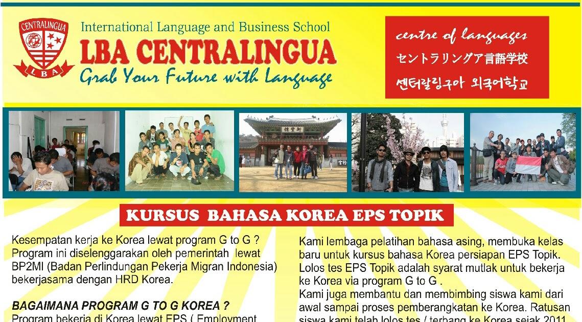 Lba Centralingua Informasi Kerja Ke Korea 2022