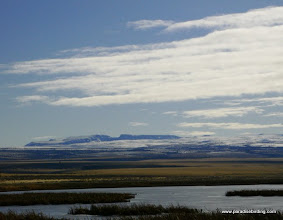 Photo: West slope of Steens Mountain from Benson Pond on Malheur Refuge