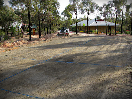 Some progress being made at the Thubten Sherup Ling construction site, Eaglehawk, Victoria, Australia, April 2012.