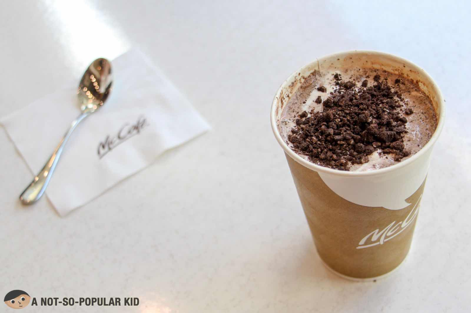 Oreo Frappe of McCafe in Maybank Theater