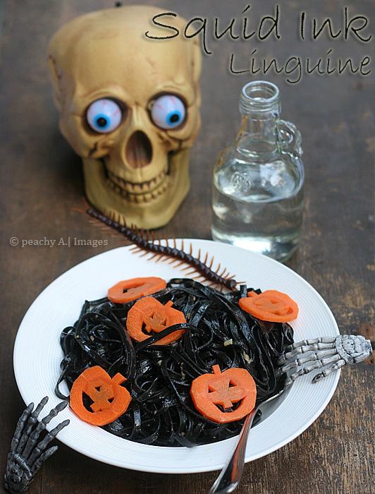 halloween pasta recipe squid ink linguine
