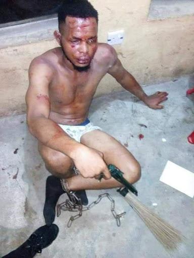 UNIUYO Man O' War arrests robber at gunpoint.