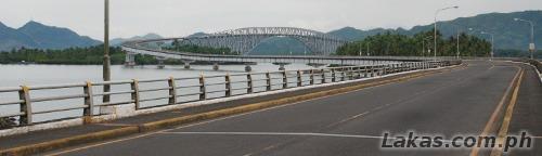 San Juanico Bridge Samar Side. 'S' shaped for Samar