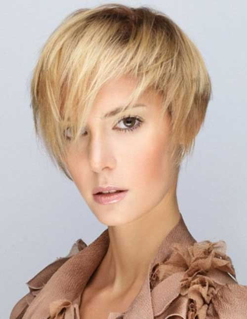Short Light Blonde Casual Pixie For Women Fashion Qe
