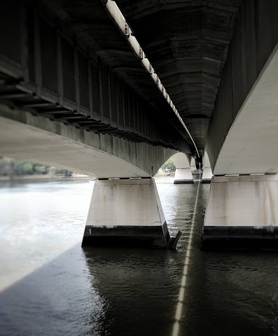 Underneath Goodwill Bridge, Brisbane, Australia