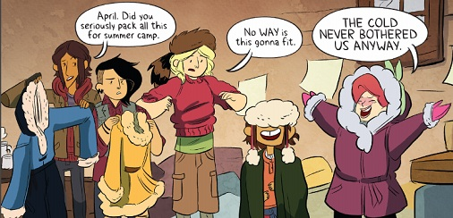 Lumberjanes: 'The cold never bothered us anyway'
