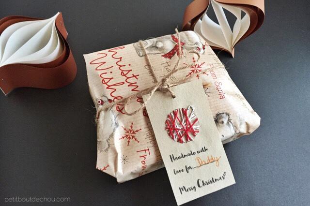 DIY Christmas craft gift tag handmade embroidery free printables
