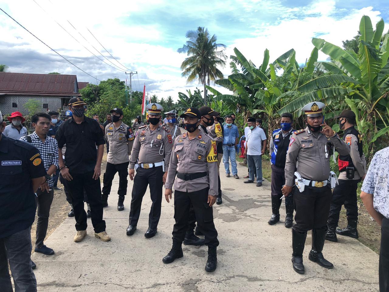 Kabag Ops Polres Soppeng Pimpin Langsung Pengamanan Kunjungan Menteri Pertanian RI