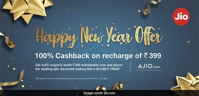 Jio Happy New Year Offer - Get Flat Rs. 399 Off AJIO Coupon