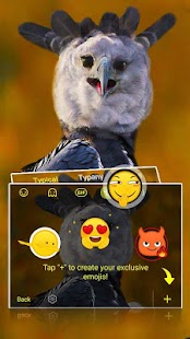 Funny Happy Eagle Keyboard - náhled