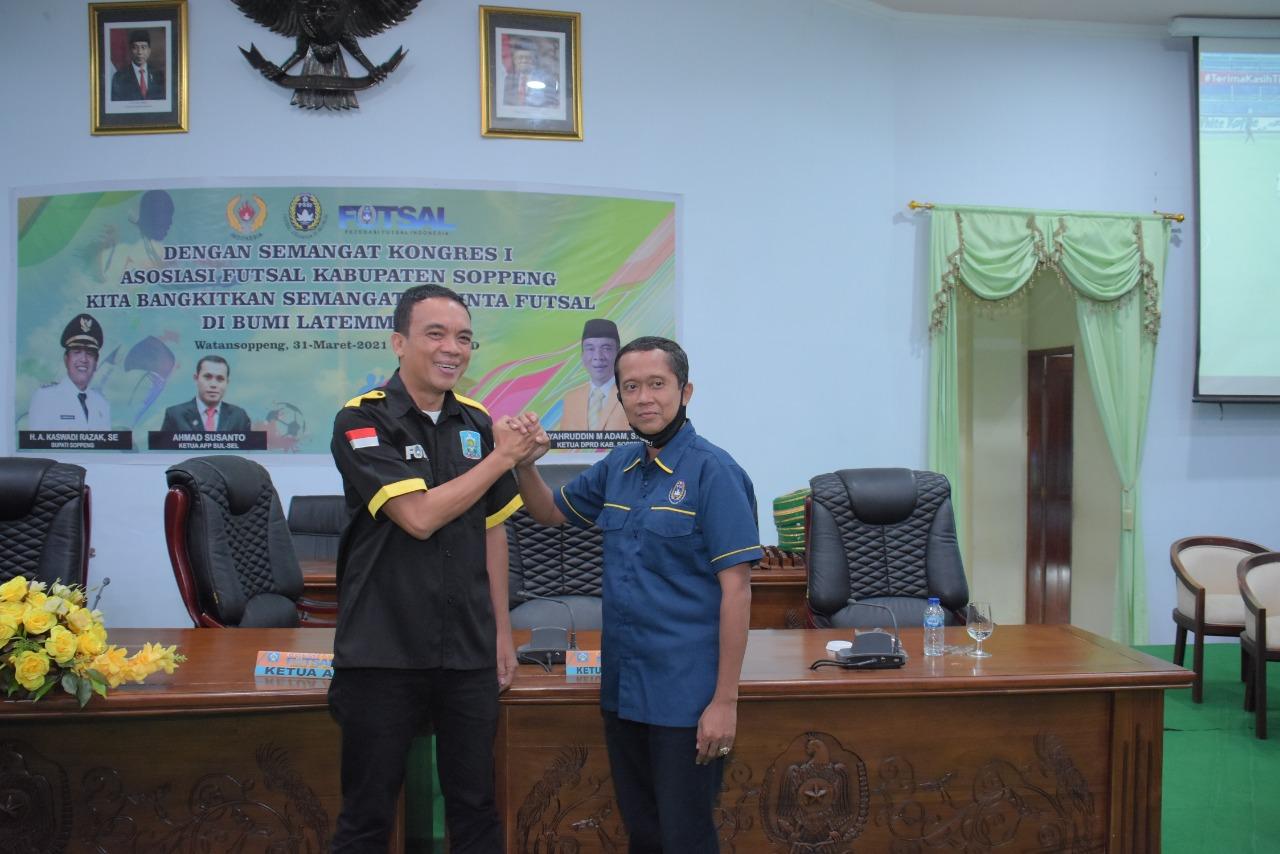 Kongres Asosiasi Futsal Kabupaten Soppeng, Syaharuddin Adam Dinobatkan Jadi Ketua AFK