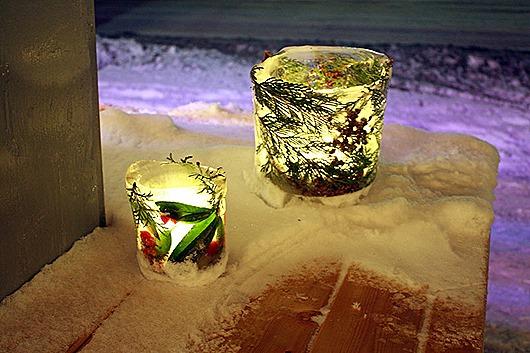 декорированные ледяные подсвечники своими руками