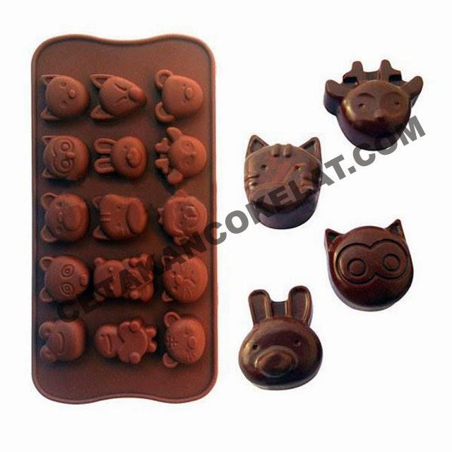 cetakan coklat hewan binatang kelinci kodok monyet rusa kucing rubah burung hantu panda SIL031 SIL31