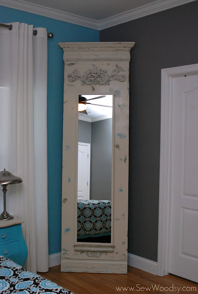 DIY Trumeau Floor Mirror