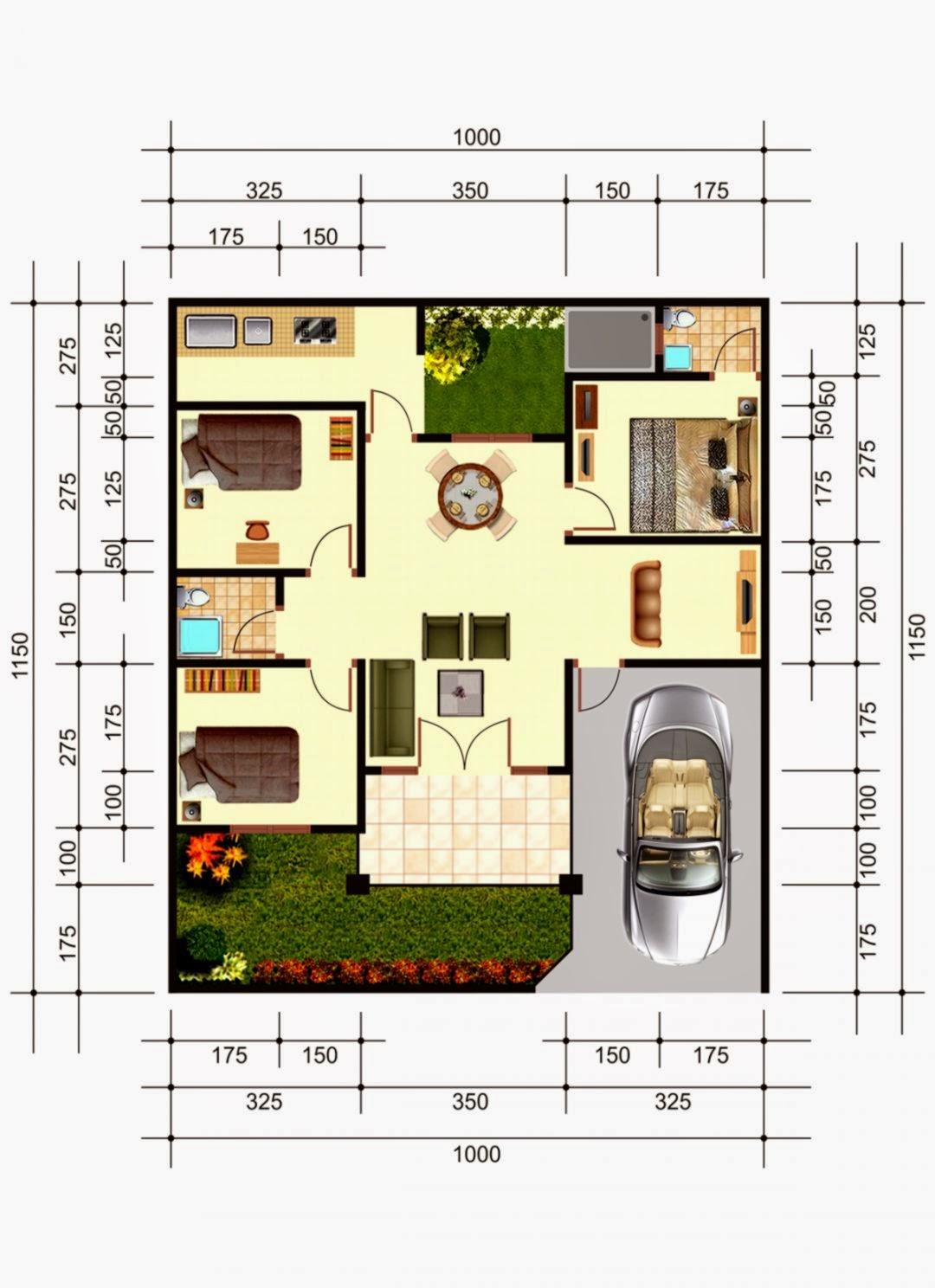Denah Rumah Keren Desain Rumah Asri