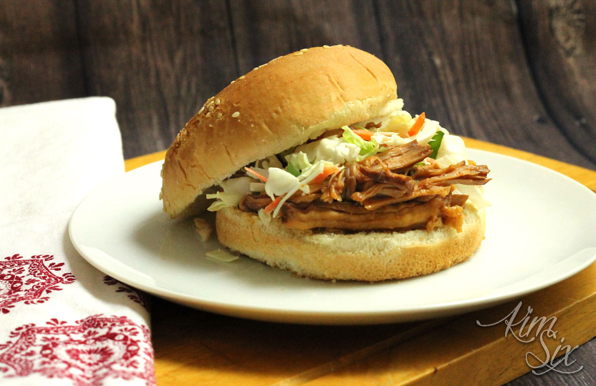 Bourbon BBQ pork in the slow cooker