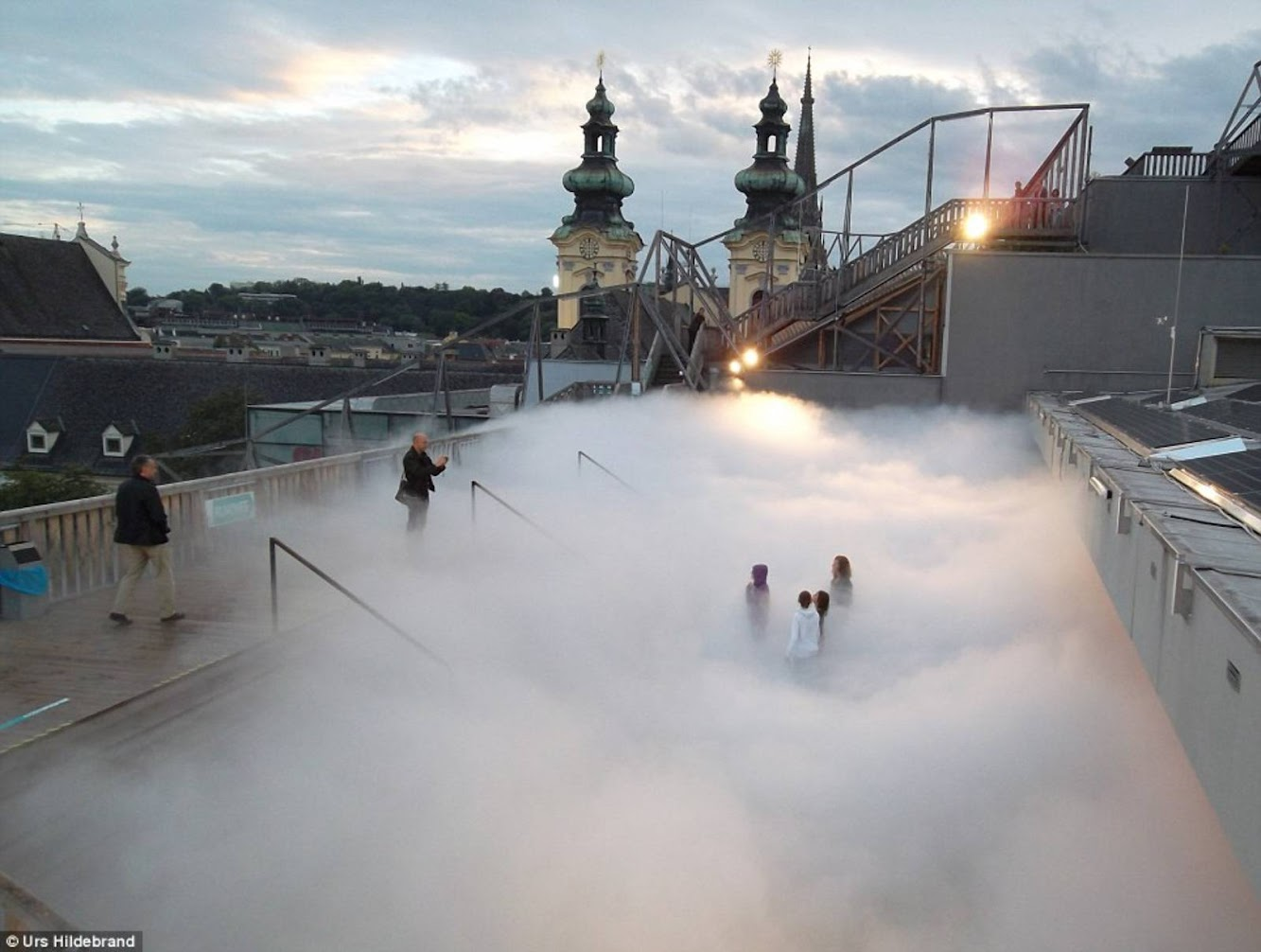 Linz, Austria: Cloud Parking by Fujiko Nakaya