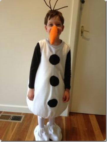 disfraz casero de Olaf de frozen (13)