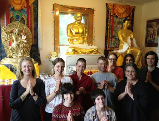 Milarepa Center offering their gratitude for Lama Zopa Rinpoche's gift of Maitreya, Barnet, Vermont, USA, May 2012