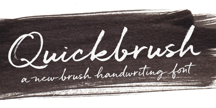 Download Quickbrush Font Family From Trial by Cupcakes