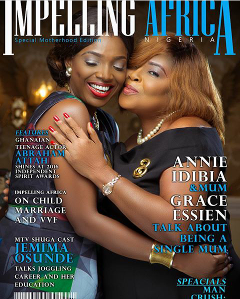 Photos: Actress Annie Idibia And Her Mother Cover Impelling Africa Magazine