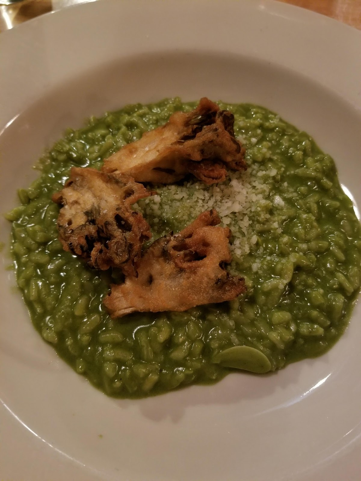nettle risotto with maitake mushrooms kfclovesyou foodie blogger capitol hill