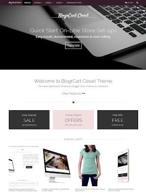 template Blogspot BlogrCart Closet Responsive