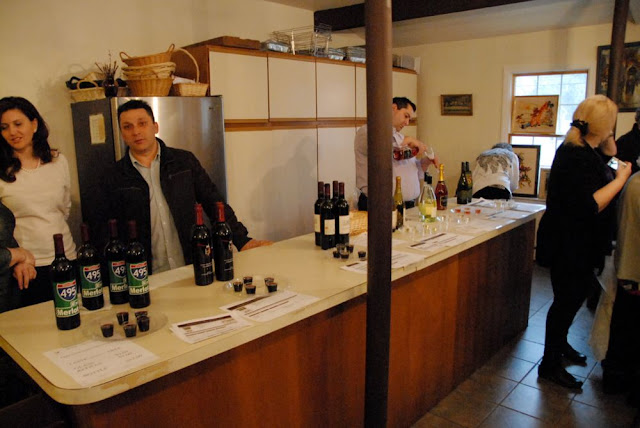 Wine from local vineyards was available for tasting.