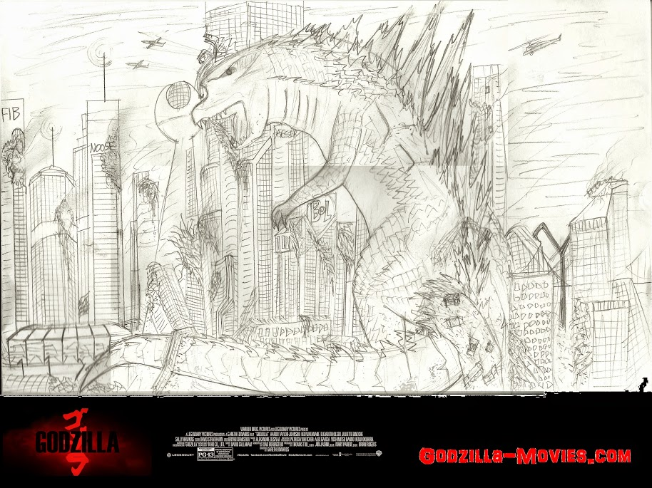 Godzilla himself in Largefield City...
