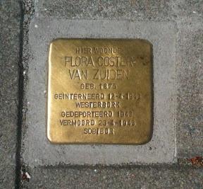 Flora Coster van Zuiden - J.P. Sweelinckstraat 14 - Stolperstein Enschede