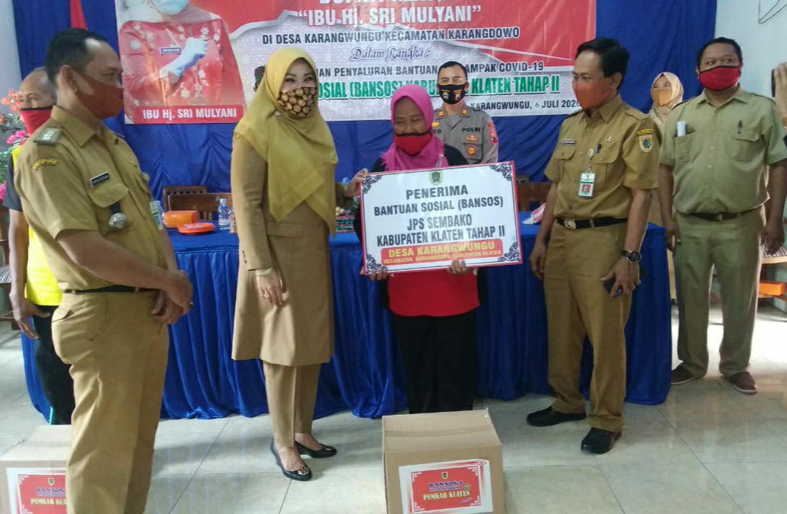 Pemkab Klaten Bantu  9.804 Paket Sembako di Eks Kawedanan Pedan
