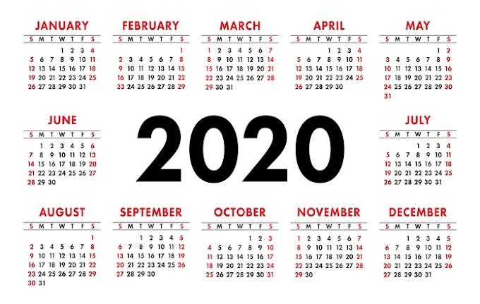 Tanggal Unik di Tahun 2020